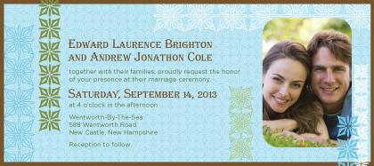 Wedding Invitation with photo - Breathe