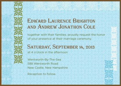 Wedding Invitation same sex - Breathe