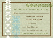 Response Card with menu options - breathe