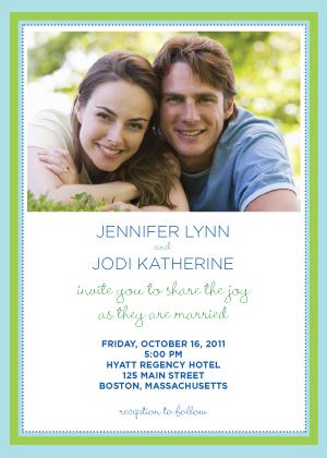 Wedding Invitation same sex - Together