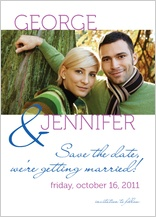 Save the Date Card with photo - share the joy