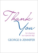 Wedding Thank You Card - share the joy