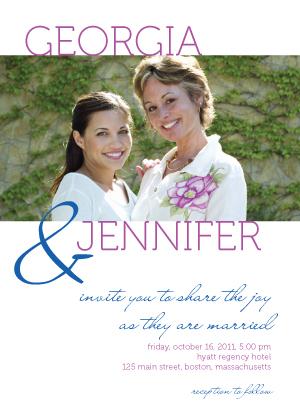 Wedding Invitation same sex - share the joy