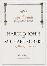 Save the Date Card - hand in hand