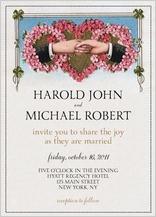 Wedding Invitation same sex - hand in hand