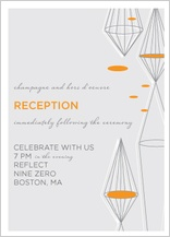 Reception Card - geometric