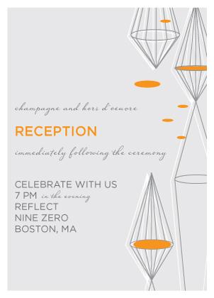 Reception Card - Geometric