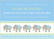 Birth Announcement - elephant parade