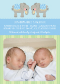 Multiples Birth Announcement with photo