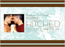 Save the Date Card with photo - getting hitched
