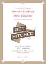 Wedding Invitation - sweet ribbons