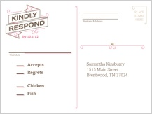 Response Card - sweet ribbons