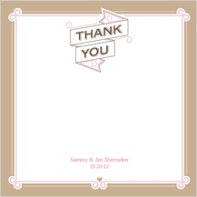 Wedding Thank You Card - sweet ribbons