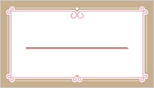 Place Card - sweet ribbons