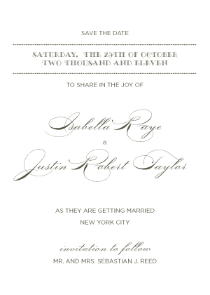 Save the Date Card - Lux