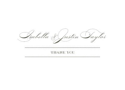 Wedding Thank You Card - Lux