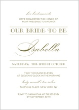 Wedding Shower Invitation - lux