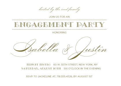 Engagement Party Invitation - Lux