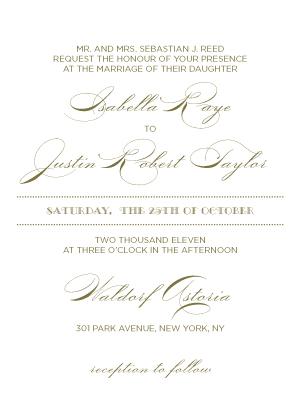 Wedding Invitation - Lux
