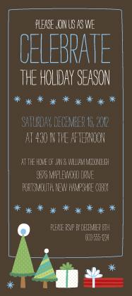Holiday Party Invitations - Jolly Presents