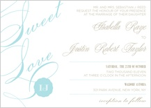 Wedding Invitation - sweet love