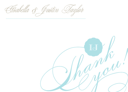 Wedding Thank You Card - Sweet Love