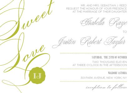 Wedding Invitation - Sweet Love