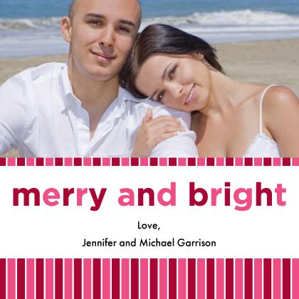 Christmas Cards - Candy Cane Stripes