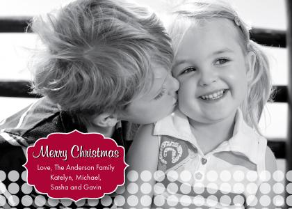 Christmas Cards - Merry Christmas Polka Dot