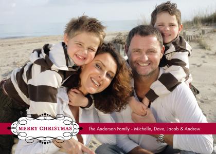 Christmas Cards - Merry Christmas Scrolls