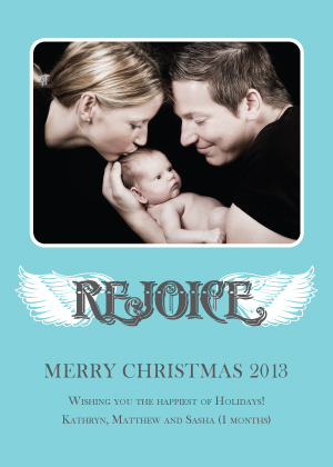 Christmas Cards - Rejoice Wings