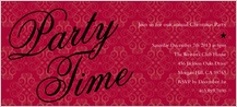 Holiday Party Invitations - party time stars and scrolls