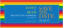 Save the Date Card - over the rainbow