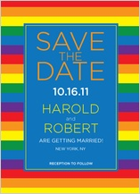 Save the Date Card - over the rainbow too