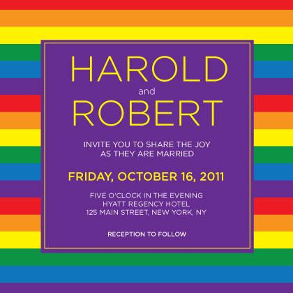Wedding Invitation same sex - Over the Rainbow too