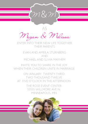 Wedding Invitation with photo - Offical Love