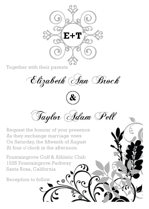 Wedding Invitation - Classic Wedding Invitation