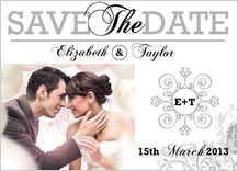 Save the Date Card with photo - classic wedding invitation