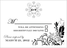 Response Card - classic wedding invitation