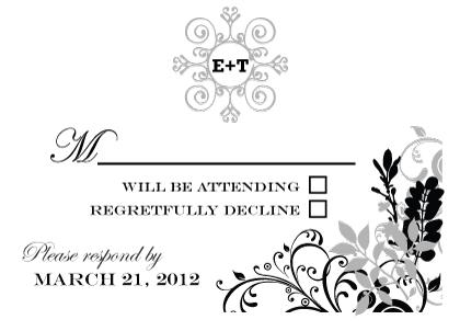 Response Card - Classic Wedding Invitation