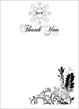 Wedding Thank You Card - classic wedding invitation