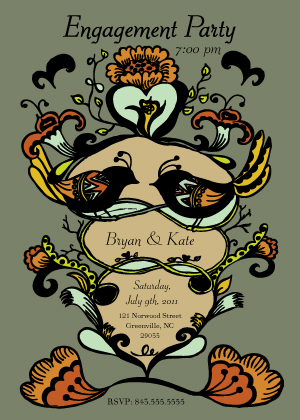 Wedding Invitation - Whimsy Engagement Party Invite