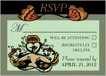 Response Card - whimsy engagement party invite