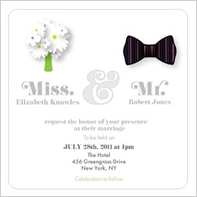 Wedding Invitation - mr. & mrs