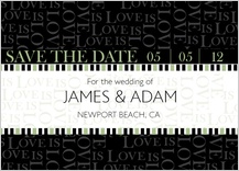 Save the Date Card - love is love