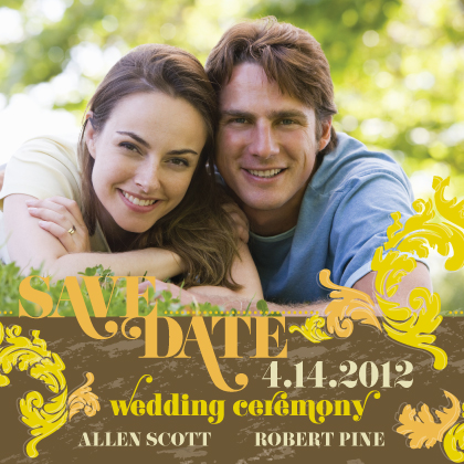 Save the Date Card with photo - Simple Flourish