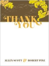 Wedding Thank You Card - simple flourish