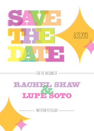 Save the Date Card - kaleidoscopic love