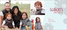 Christmas Cards - snow flake season's greetings