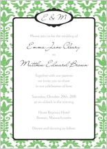 Wedding Invitation - wedding damask